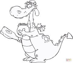 free coloring pages of dragons dragon leprechaun with a pot of gold and mace coloring page free