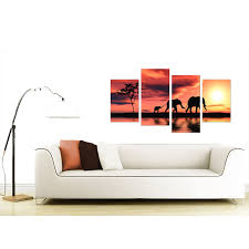 Orange Bathroom Accessories Uk by Canvas Prints Of African Elephant In Orange For Your Living Room
