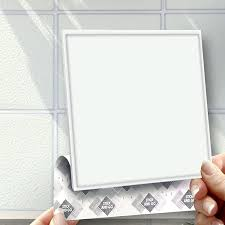 white effect wall tiles box of 8 tiles stick and go wall tiles 6
