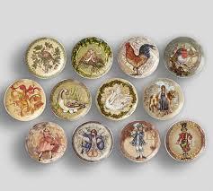twelve days of salad plates mixed set of 12 pottery barn