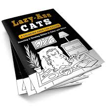 lazy cats coloring book adults print book lazy