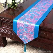 luxury damask table runner 120 inch long elegant embroidered damask table runners dining table