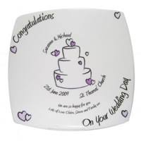 wedding guest signing books plates