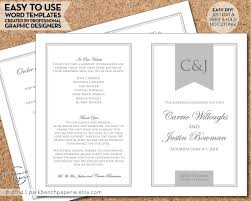 how to print wedding programs wedding program template order of ceremony diy template