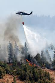 Wildfire California 2016 by California Guard Assisting With Firefighting Operations At Two