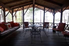 cabin porch atsokan island cabins