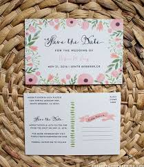 free printable save the date postcard templates diy style display