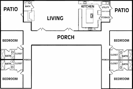 L Shaped Ranch Floor Plans by U Shaped Ranch House Plans Home Designs Ideas Online Zhjan Us