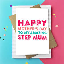 mother s day card designs happy mother u0027s day amazing step mum card by do you punctuate