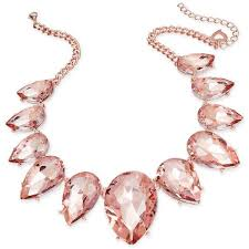pink necklace images Thalia sodi rose gold tone pink crystal statement necklace 50 jpg