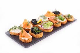 canape toast canape assortment of toast stock image image of bruschetta