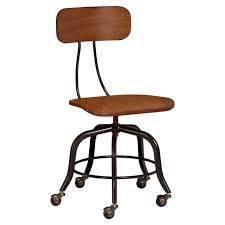 Small Desk Chairs With Wheels Vintage Wood Swivel Chair Pbteen