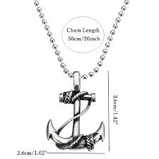 boat anchor manual vintage stainless steel boat anchor pendant men silver necklace