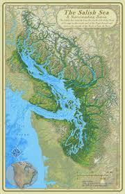 Washington Coast Map by Coast Salish Camas Cultivation Historylink Org