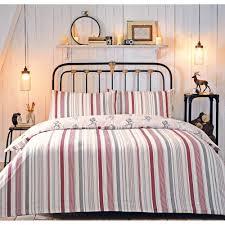 buy appletree hamish red stripe duvet cover set at mailshop co uk