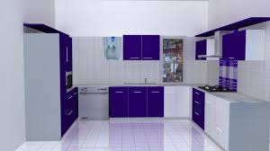 colourful kitchen cabinets nice u shape modular kitchen features white purple colors kitchen