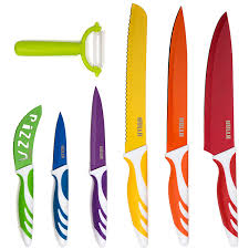 kitchen knive set hullr 7 kitchen knife set stainless steel knives with multi