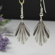 lightweight earrings sensitive ears silver deco earrings surgical steel nickel free for sensitive