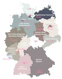 map of germany with states and capitals german states and state capitals map of germany in with creatop me