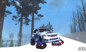 rally subaru snow subaru impreza wrx sti snow for gta san andreas