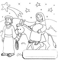 mary donkey travel bethlehem colouring colouring