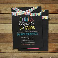 co ed bridal shower tools tequila and tacos wedding shower invitation co ed wedding