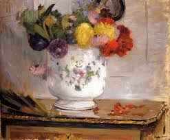 berthe morisot dahlias 1876 oil on canvas style me pretty