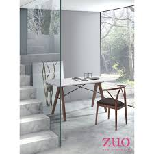 Zuo Modern Desk by Zuo Modern 100147 Saints Desk W Walnut Finish Legs U0026 White Top
