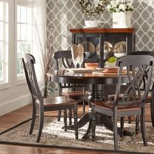 Black Wooden Dining Table And Chairs Furniture Round Black Glass Dining Table And Black Wooden Dining