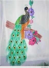 Painting Designs Wonderful Saree Painting Designs Peacock Warli Mural Saree