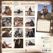 john wayne in the movieswall calendar 9781465091222 calendars com