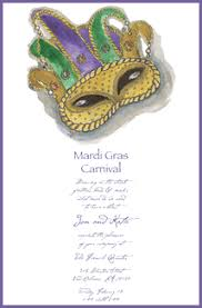 mardi mask mardi gras invitations mardi gras cards