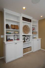 Built In Wall Shelves by Custom Built In Cabinets And Woodworking Projects