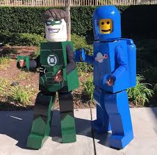 lego figures green lantern and benny costumes costume yeti