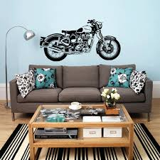 motorcycle home decor motorbike wall decals motorbike wall art sticker classic