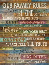 our family rules wall art shenra com gift ideas for hippies that will have them spreading the love