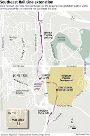 denver light rail expansion map partners primed for coming lone tree light rail extension the