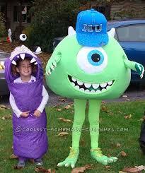 cool homemade mike wazowski costume sister boo mike