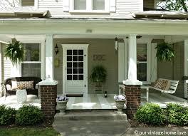 exteriors mid century small veranda decor with palid white
