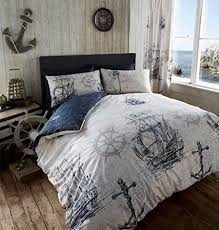 Anchor Bedding Set Adventure Duvet Quilt Cover Nautical Boat Ship Anchor King Bedding
