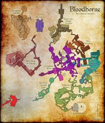 Self Adhesive Old World Map Complete Map Of Bloodborne Bloodborne