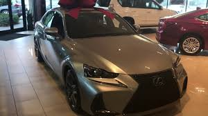 youtube lexus is f sport 2017 lexus is new refresh f sport atomic silver youtube