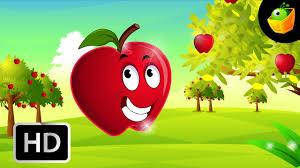if i were an apple english nursery rhymes cartoon animated