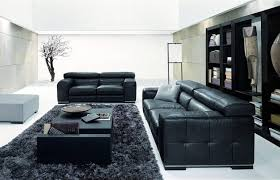Black Leather Sofas Surprising Impression Prominent Excellent Yoben Prominent