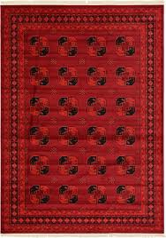Bokhara Oriental Rugs Traditional Red Rug New Area Rug Oriental Persian Classic Carpets