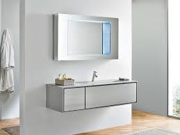 Illuminated Bathroom Mirror by Illuminated Bathroom Mirrors Granite Top Vanity White Wall Mounted