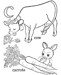 kids abc coloring pages letter lc free printable farm