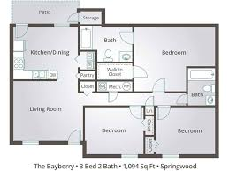 plan floor three bedroom apartment floor plan