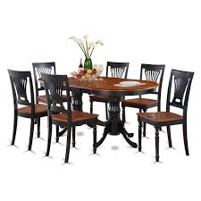amazon com east west furniture plai7 blk w 7 piece dining table