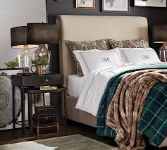 Twin Plaid Comforter Cotton Plaid Bedding Pottery Barn